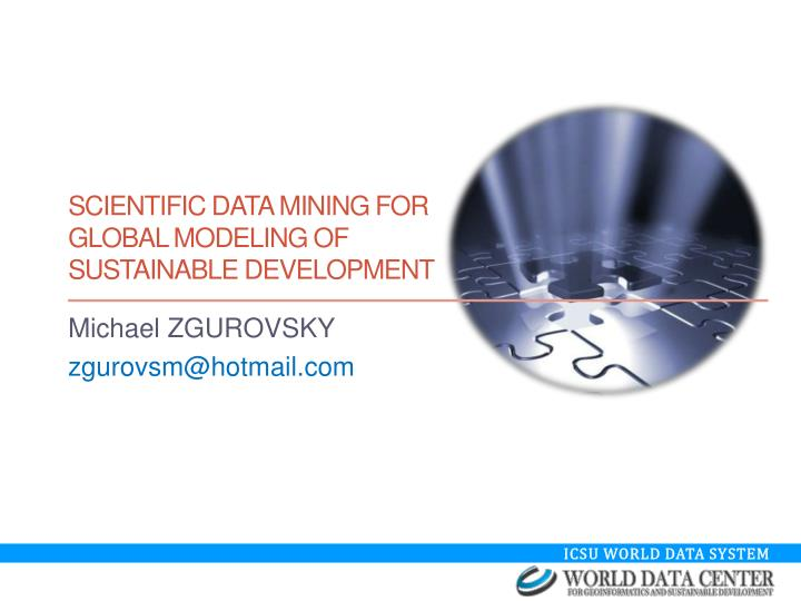 scientific data mining for global modeling of sustainable development n.