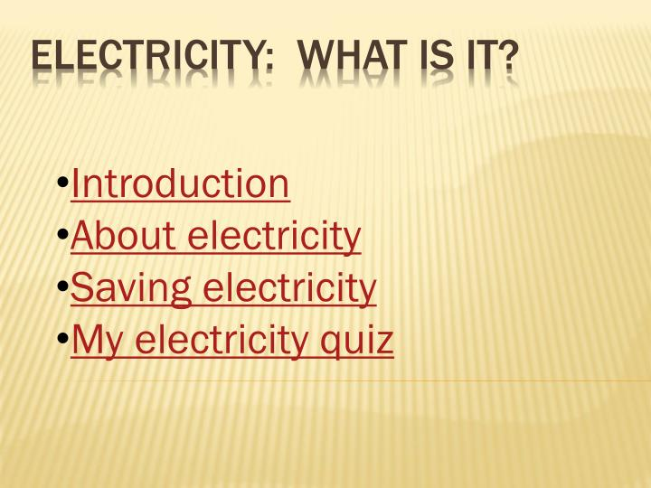 electricity what is it n.