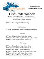 First Grade Winners