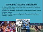 Economic Systems Simulation
