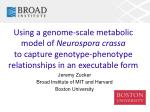 Using a genome-scale metabolic model of Neurospora crassa