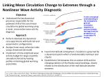 Linking Mean Circulation Change to Extremes through a Nonlinear Wave Activity Diagnostic