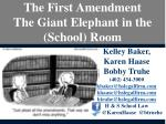 The First Amendment The Giant Elephant in the (School) Room