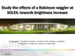 Study the effects of a Robinson wiggler at SOLEIL towards brightness increase