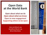 data.worldbank data@worldbank @ worldbankdata