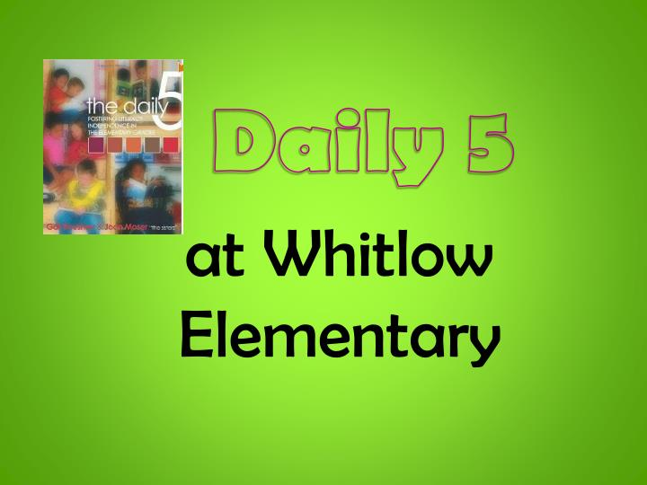at whitlow elementary n.