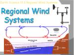 Earth Science 19.3 Regional Wind Systems
