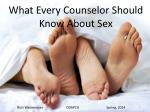 What Every Counselor Should Know About Sex