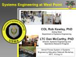 Systems Engineering at West Point