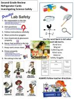 Second Grade Review Refrigerator Cards Investigating Science Safely
