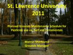 St. Lawrence University 2011