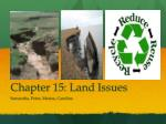 Chapter 15: Land Issues