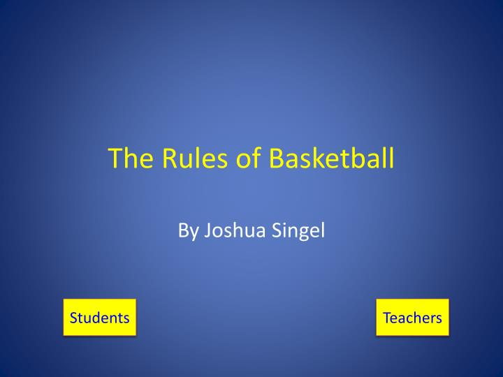 the rules of basketball n.