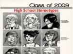High  S chool Stereotypes