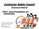 Contractor Safety Council