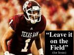 """""""Leave it on the Field""""  (for Jesus)"""
