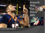 Jeopardy With Tim Tebow HPE