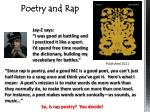 Poetry and Rap
