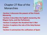 Chapter 27 Rise of the Monarchies