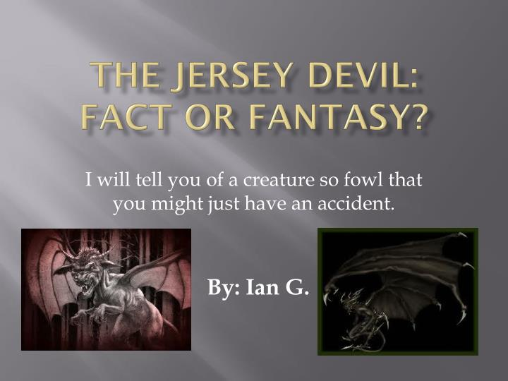 the jersey devil fact or fantasy n.