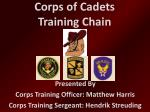 Corps of Cadets Training Chain