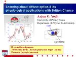 Learning about diffuse optics & its physiological applications with Britton Chance