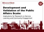 Development and Validation of the Public Affairs Scale: