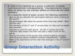 Group Interaction Activity