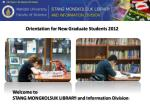 Orientation for New Graduate Students 2012