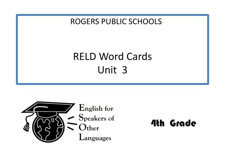reld word cards unit 3 n.