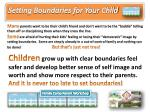 Setting Boundaries for Your Child