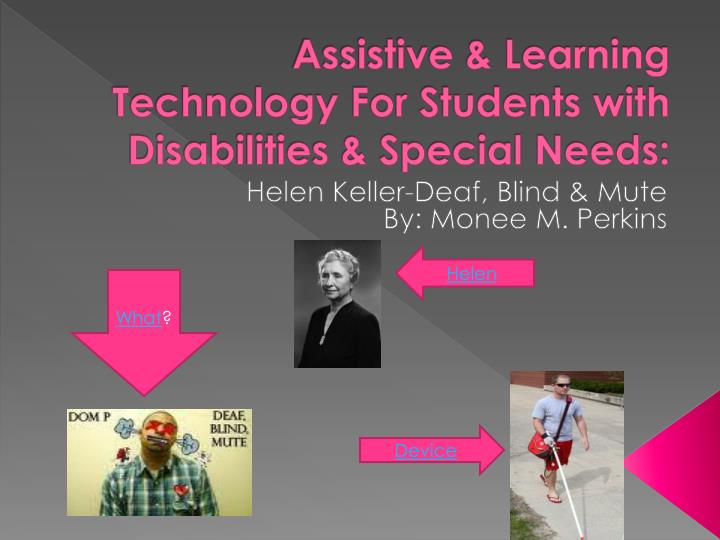 assistive learning technology for students with disabilities special needs n.