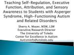 Sherry A. Moyer, MSW, LSW Executive/Research Director The University of Toledo