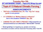 Topic # 13 Natural Climatic Forcing