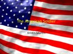 The American Soldier By: Philip Freneau
