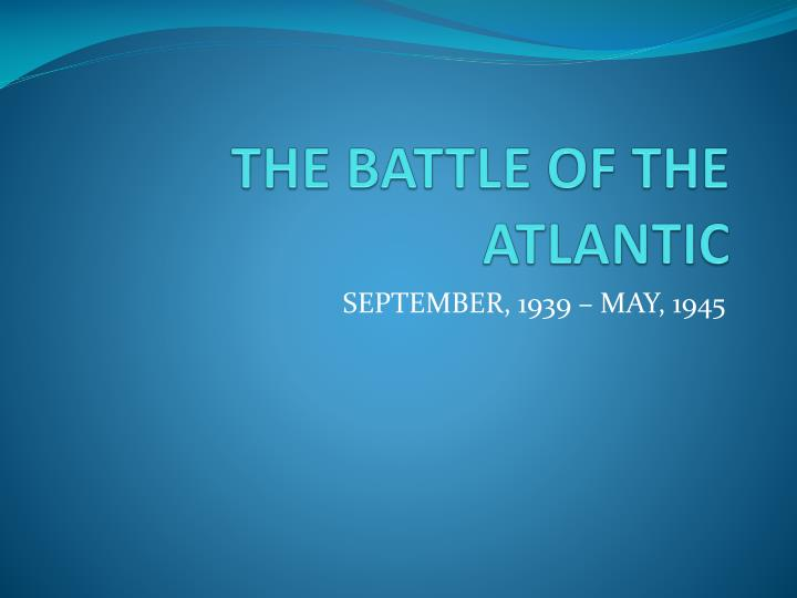 the battle of the atlantic n.