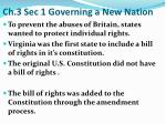 Ch.3 Sec 1 Governing a New Nation