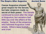 The Empire After Augustus Ancient Rome