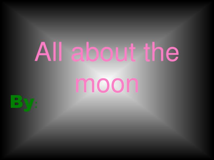 all about the moon n.