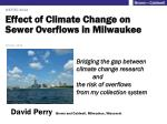 Effect of Climate Change on Sewer Overflows in Milwaukee
