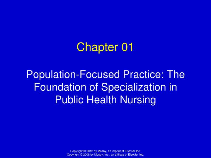 chapter 01 population focused practice the foundation of specialization in public health nursing n.