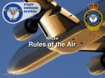 Air Law Rules of the Air