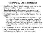 Hatching & Cross Hatching