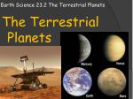Earth Science 23.2 The Terrestrial Planets