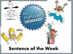 Sentence of the Week