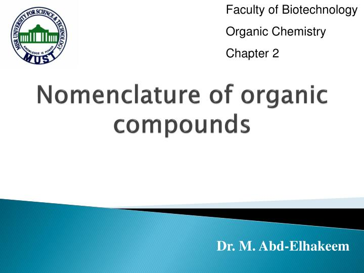 nomenclature of organic compounds n.
