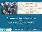 Performance Assessment System for Urban Water Supply and Sanitation
