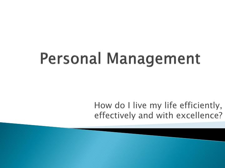 personal management n.