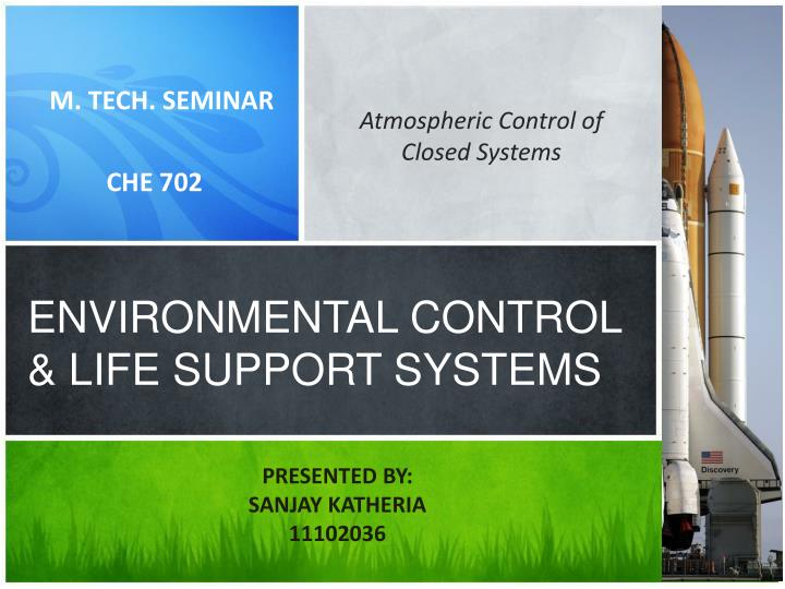 environmental control life support systems n.