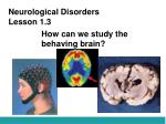 Neurological Disorders Lesson 1.3